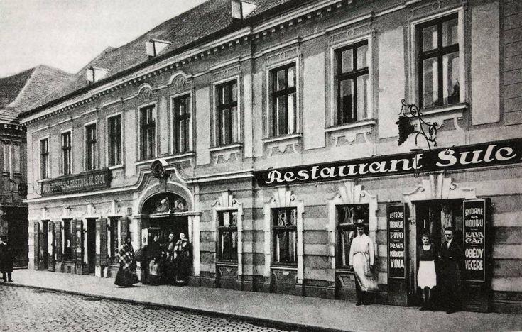 Restaurant Šulc - Dunajská ulica, rok 1930