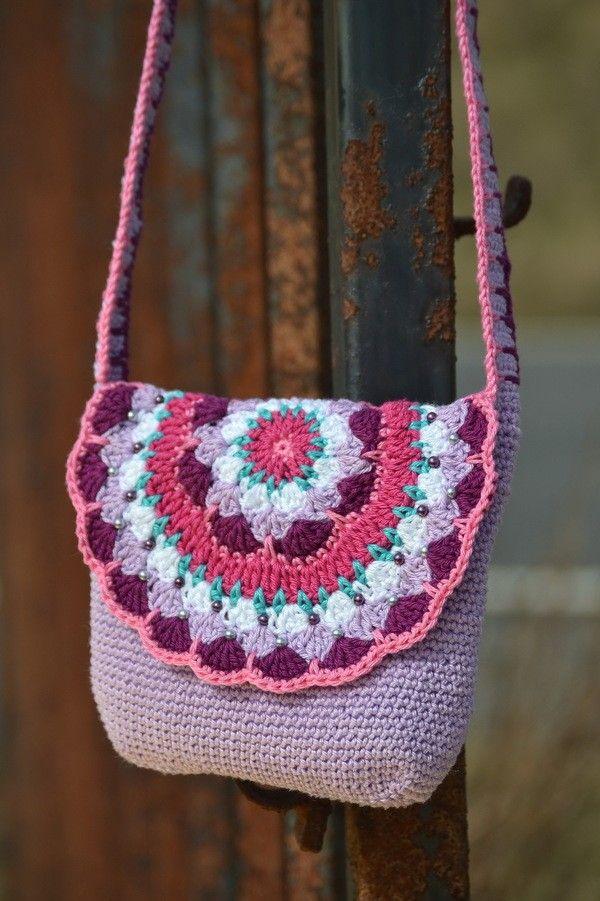 MARY LOU – Mandala Tasche häkeln, Geschenk, Mädchentaschen