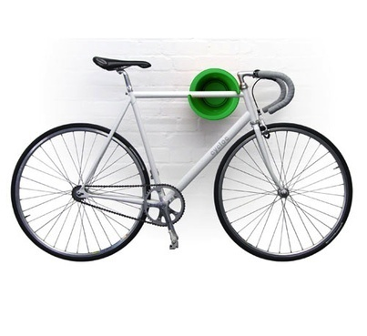 cycloc bike wall mount. always loved a bike on a wall, would look so good in my massively long hallway too :D