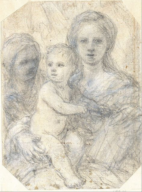 Elisabetta Sirani  Madonna and Child  1660s  drawing  Museum Kunstpalast, Düsseldorf