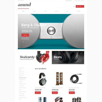 Audio Store Responsive WooCommerce Template