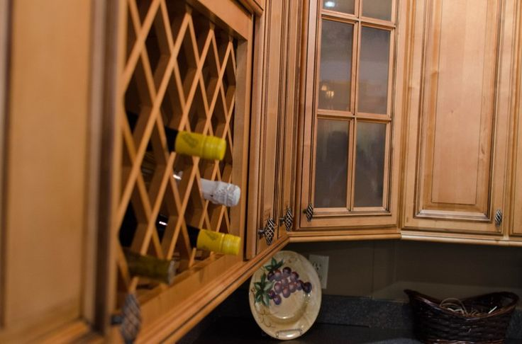 Diagonal Corner Wall Cabinet With Wine Rack York Ave
