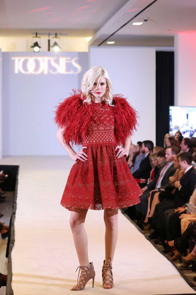 A model walks the runway during a fashion show supporting Dec My Room at Tootsies. Photo: Jon Shapley, Houston Chronicle / © 2015  Houston Chronicle