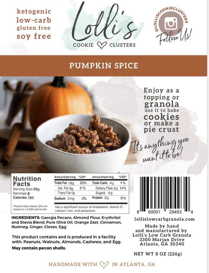 Lolli S Unveils New Pumpkin Spice Cookie Clusters Pumpkin Spice