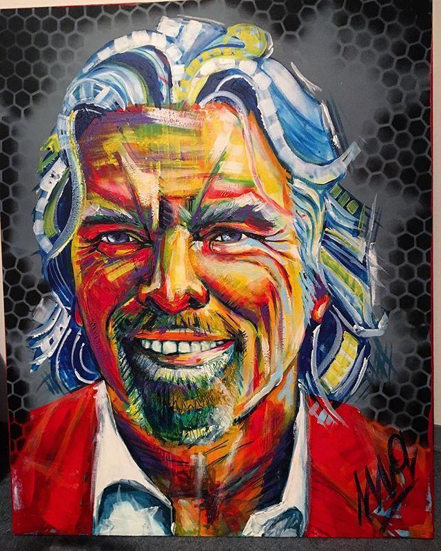 Richard Branson / akryl 100x80 #richardbranson #acrylicpainting #passion #work #exhibition #art