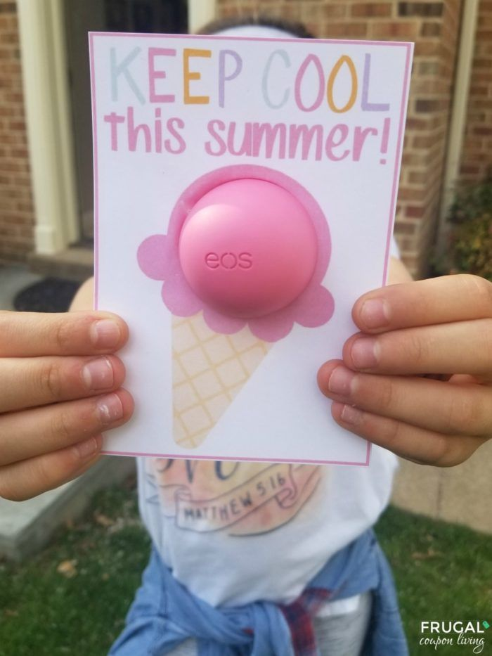 Eos Pritnable Keep Cool This Summer Ice Cream Cone Teacher Gifts Pinterest Crafts School Gifts