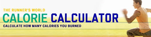 """Calorie calculator. Just enter your miles run and your weight. It tells you how many calories you burned. Handy tool, even for runners who use the """"dreadmill"""" those things are never correct."""