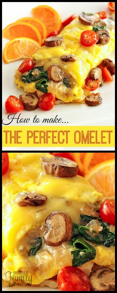 A delicious and healthy Veggie Omelet recipe with tips on how to make the PERFECT Omelet. Use your favorite vegetables to create your own perfect omelet. via @favfamilyrecipz