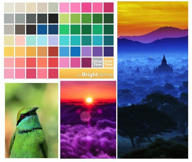 Bright spring - a bright, slightly tepid colors associated with the colors of the Indian market. Live, unusual, slightly exotic. The colors of tropical birds and flowers.