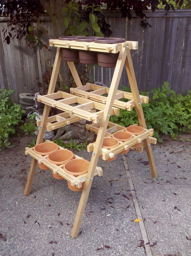 Handcrafted Wood Vertical and Hanging Planter Frames | Urban Gardens