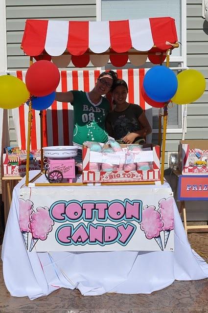 cotton candy booth...aka lemonade stand ;)