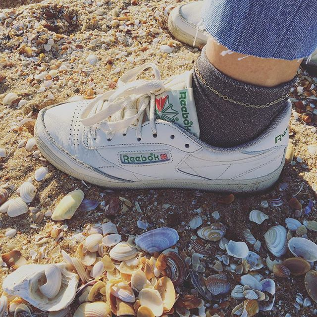 🐚 #seashells#coquillage#beach#plage#play#ocean#sand#feet#sneakers#sneakersaddict#basket#reebok#style#look#fashion#sunday#walk#familyfirst#life#love#photo#photooftheday#girl#igers#bordeaux#bordeauxmaville#france