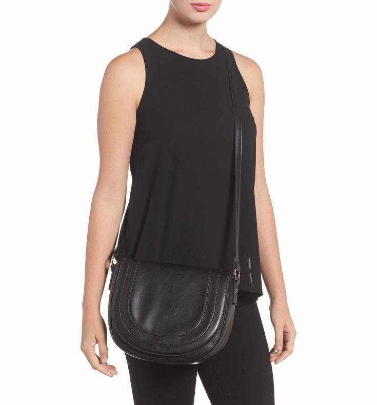 Main Image - Sole Society Piri Faux Leather Saddle Bag
