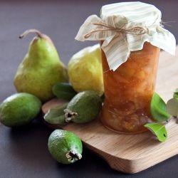 Feijoa, pear and white wine jam