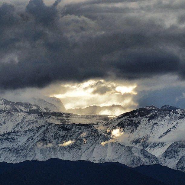 Cordillera de Los Andes mirada desde Santiago Chile