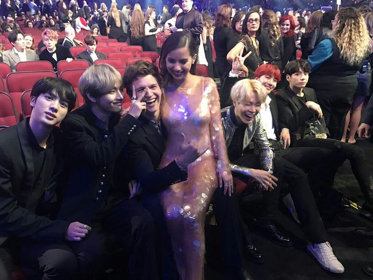 BTS with Ansel Elgort and Violetta Komyshan ❤ BTS At The AMAs!! (It feels unreal, but it's too real~ I'm sorry is this a dream? HISTORY, I REPEAT HISTORY HAS BEEN MADE! Our boy's, ARMYs love you so much! We are so so so proud! Thank you ARMYs, thank you BTS, thank you everyone who made this dream come true, thank YOU and love yourself~~! 171119) #BTS #방탄소년단
