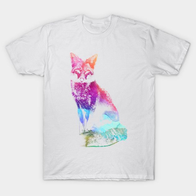Do you like animal and fox? Here a fox spirit! on sale for 14$ only for 3 days #animal #animals #fox #foxes #spirit #spirits #animallover #lover #tshirt #sale #muticolor