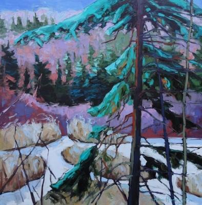 Laden Spruce, by Gordon Harrison, is on display at the Gordon Harrison Gallery.