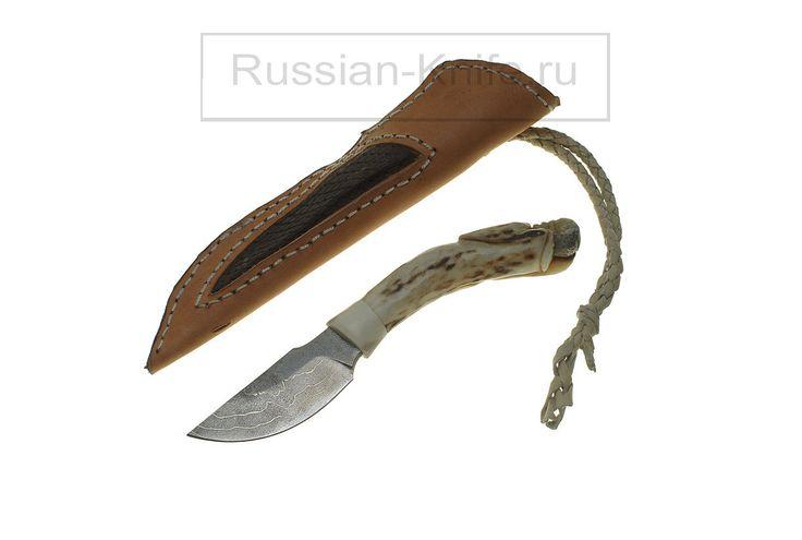 """Нож """"Череп"""". Дамаск, рог оленя, кожа. 'Skull' knife. Damascus, antler, leather #купить #авторский #нож #ручной #работы #ножи #изготовление #охотничьи #тактические #оружие #ножик #эксклюзив #ручнаяработа #подарокмужчине #мачете #ножны #холодное #knife #knives #customknives #handmade #knifecommunity #knifecollection #weapon #giftforhim #machete #blade #blades #hunting #survival"""