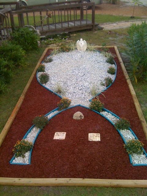 Ovarian Cancer Memorial Garden We Made For My Mom