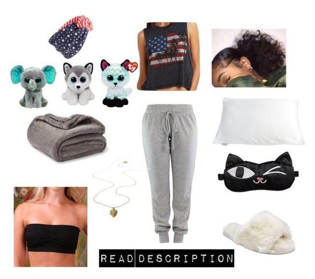 """Shameless season 1: Aria's sleep things"" by garnet1626 ❤ liked on Polyvore featuring Coobie, John Lewis, Tasha and Bucky"