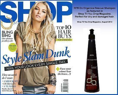 Do Organics Rescue Shampoo as featured in Shop Til You Drop August 2013 - News - RPR Hair Care Pty. Ltd.