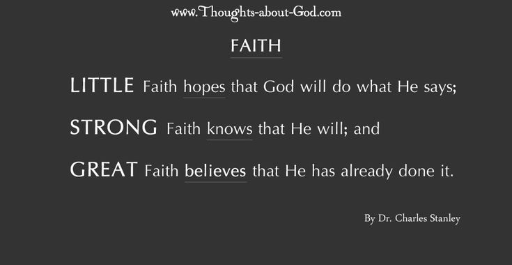 Devotional: Muscles of Faith by Dr. Charles Stanley