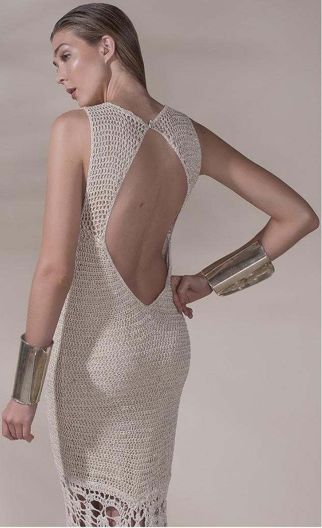Agostina Bianchi crochet dress - back