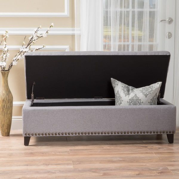 Isra Fabric Storage Ottoman Bench by Christopher Knight Home