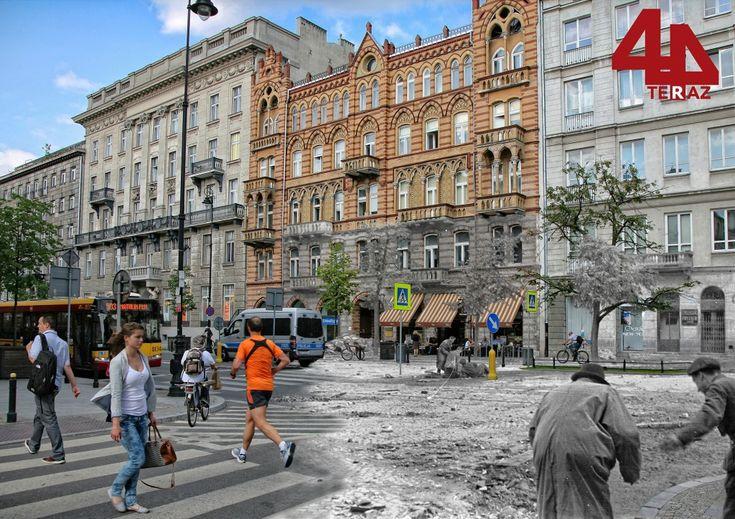 Corner of Aleje Ujazdowskie and Wilcza - Then And Now Photos Of Warsaw That Bring History To Life Best of Web Shrine