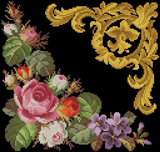 Gallery.ru / Фото #58 - Старинная вышивка. Готовые перенаборы - s1a2v3o4l5
