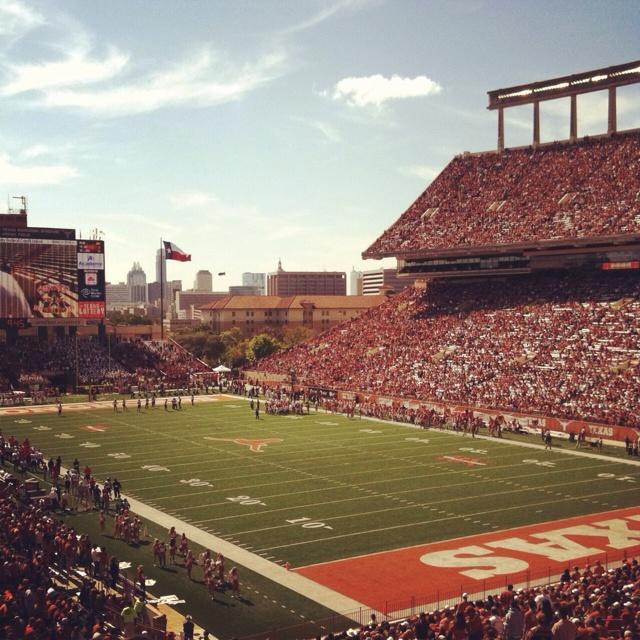 By God isn't it beautiful!! - Darrell K. Royal Texas Memorial Stadium, UT Austin #utaustin #40acres #architecture