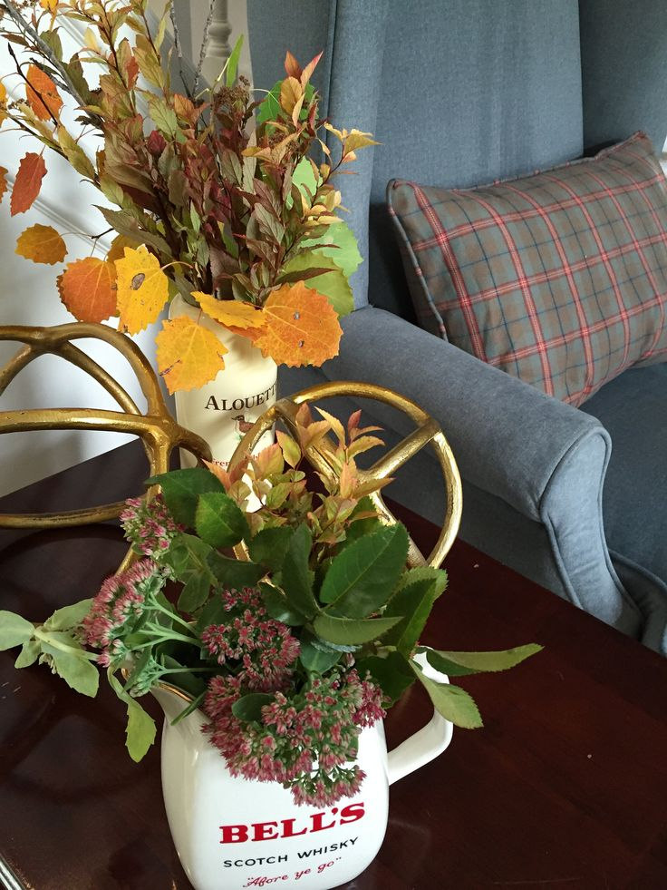 Autumn arrangements in vase from England