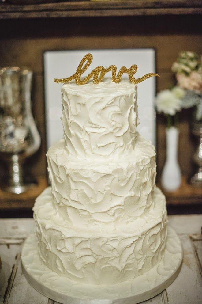 Soft And Pretty Vintage Wedding Glitter CakesWedding Cake GoldPretty ToppersWedding BellsWedding RusticWedding