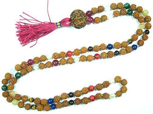 Meditation Rosary Necklace- Rudraksha Beads Nine Planets Navgraha (Navartna) Prayer Mala Mogul Interior http://www.amazon.com/dp/B00Z09WOE6/ref=cm_sw_r_pi_dp_78pDvb0J9R240