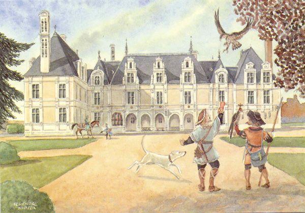 Château de Beauregard: le fauconnier (© Hesse)