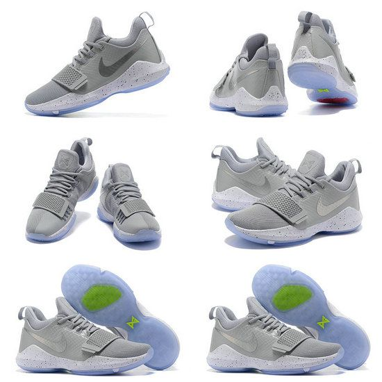 Free Shipping Only 69$ Nike PG 1 Paul George Shoes 2017 Cool Grey Wolf Grey