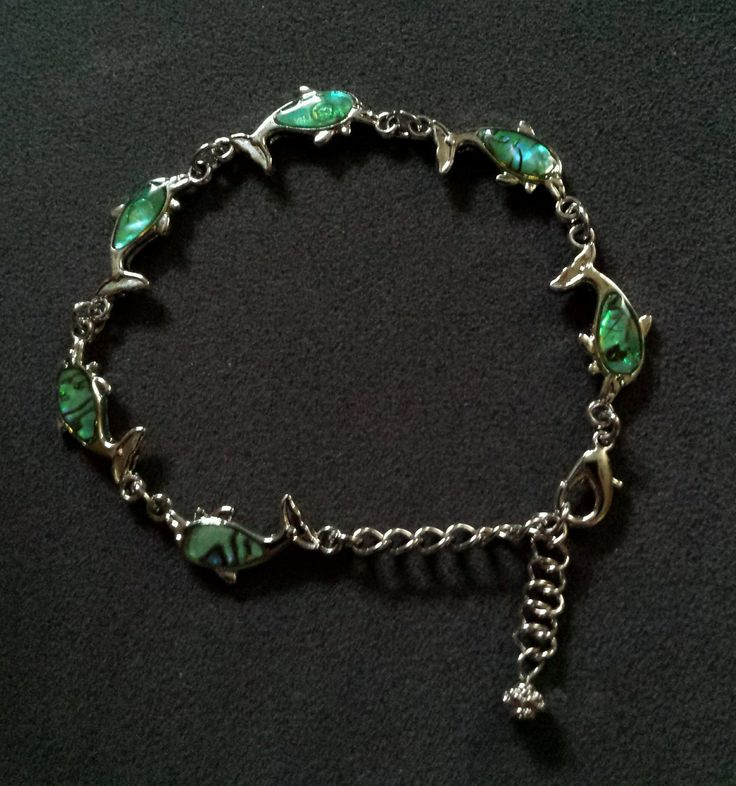 Dolphin albacore shell anklet