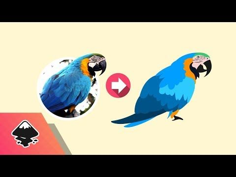 Inkscape Tutorial: Vector Image Trace - YouTube