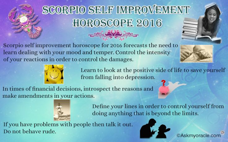 Free Yearly self improvement #horoscope for #Scorpio zodiac sign for 2016 - Keep you negative thoughts aside and live with optimism.