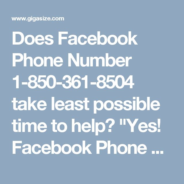 """Does Facebook Phone Number 1-850-361-8504 take least possible time to help? """"Yes! Facebook Phone Number 1-850-361-8504 helps you out on myriad of subject including: • Password recovery problems • Account recovery problems • Security issues For more visit us our website for anytime. http://www.monktech.net/facebook-customer-support-phone-number.html """""""
