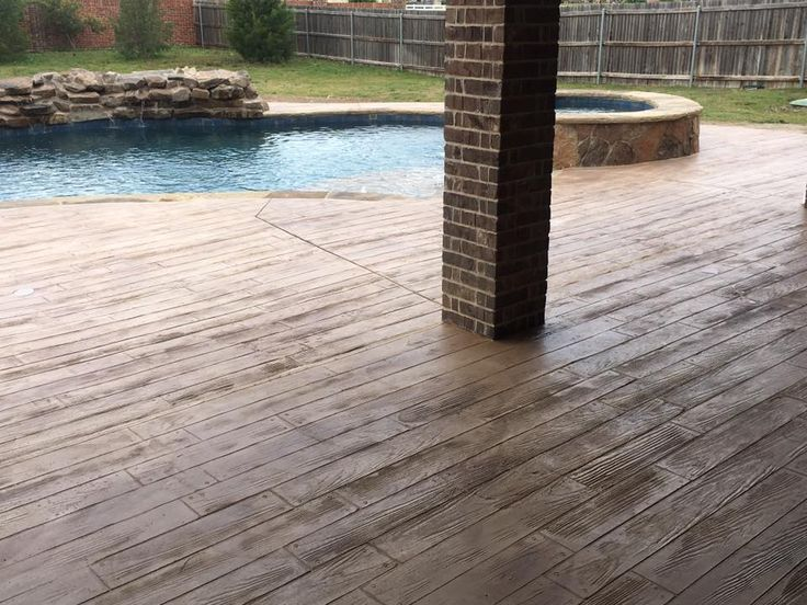 Stamped Concrete Patio Looks Like Wood : Best ideas about wood stamped concrete on pinterest