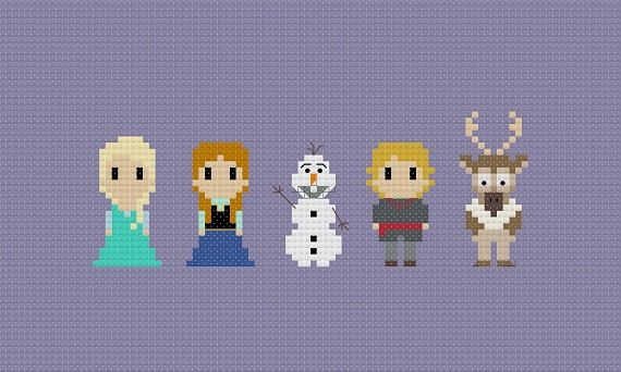 Frozen Cross Stitch Pattern by GeekyStitches on Etsy