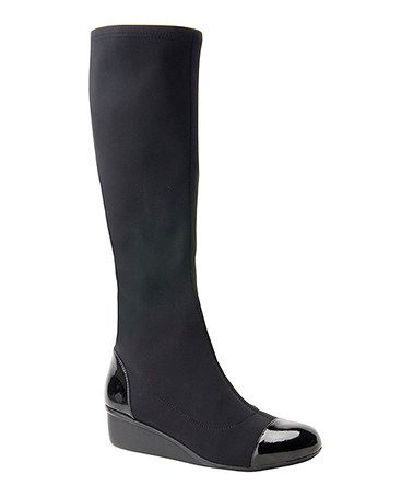 Another great find on #zulily! Black Ebony Leather Boot by Ros Hommerson by Drew #zulilyfinds