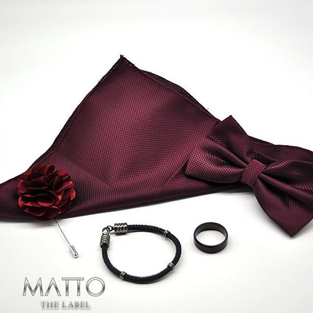 MATTO THE LABEL | Our gorgeous Crimson red combo is to die for! A simply must have for any outfit | Simple | Elegant | Divine | | Follow us on Facebook & Instagram |