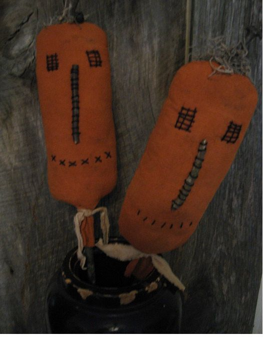 Primitive Pumpkin Pokes For Crocks Baskets  Buckets 2 by annattic1, $14.00