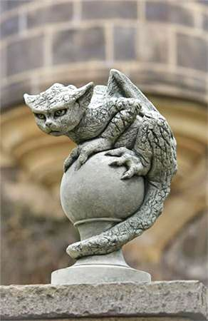 Ok this is cool but I don't have a place to put it so I'll just say its a mythical creature... I like this sculpture because it's not too big. You sort of have to do a double take to see it.