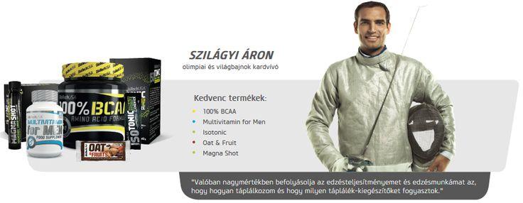 Szilágyi Áron kardvívó is Biotech USA termékeket használ.