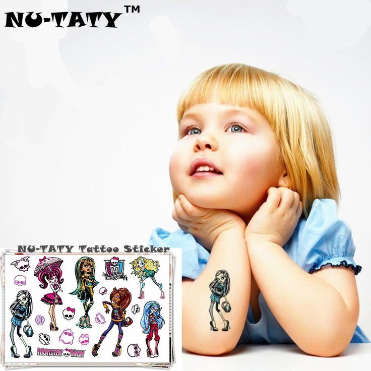 Monster High Phantom NU-TATY Lalki Tymczasowe Tatuaże Flash Tatuaż Naklejki 10*17 cm Wodoodporna Tatuaż Henną Fałszywe Stylizacji naklejki