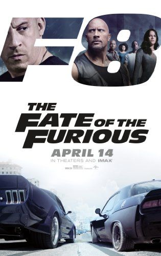 The Fate of the Furious (2017). Eigth outing of the over-the-top motor series.  This time Dom splits from the team stealing items for a psychotic cyber criminal. Stars Vin Diesel, Dwayne Johnson, Jason Statham, Michelle Rodriguez, Charlize Theron, Tyrese Gibson, Ludacris, Scott Eastwood, Kurt Russell, Helen Mirren, Luke Evans, Nathalie Emmanuel, and Kristofer Hivju.